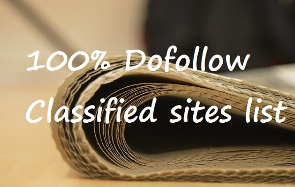 free dofollow classified sites list
