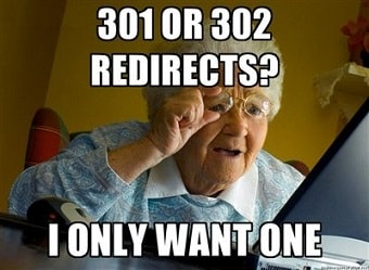 redirects meme