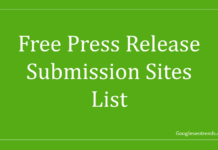 press release submission