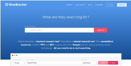 word tracker SEO tools
